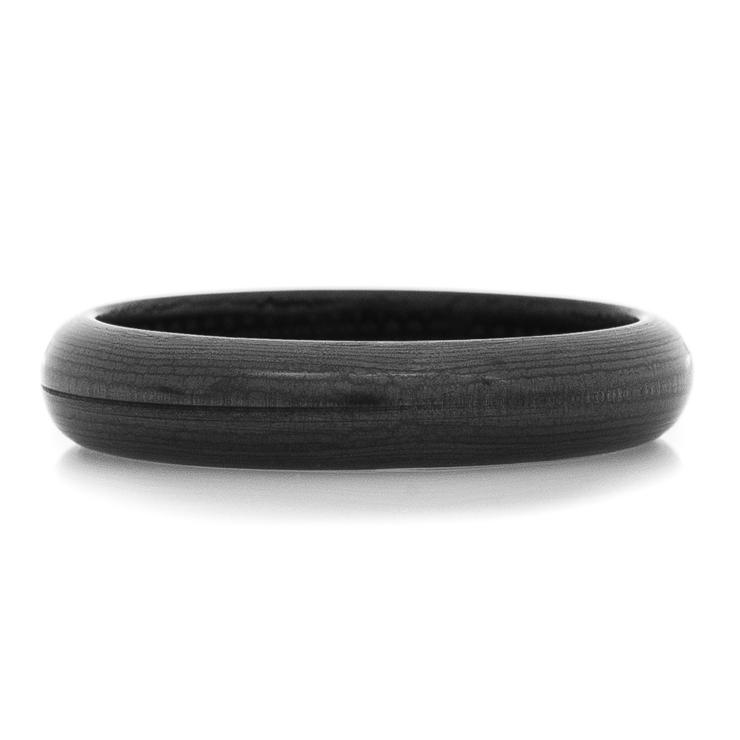 Women's Dome Profile Black Carbon Fiber Bella Strata Ring