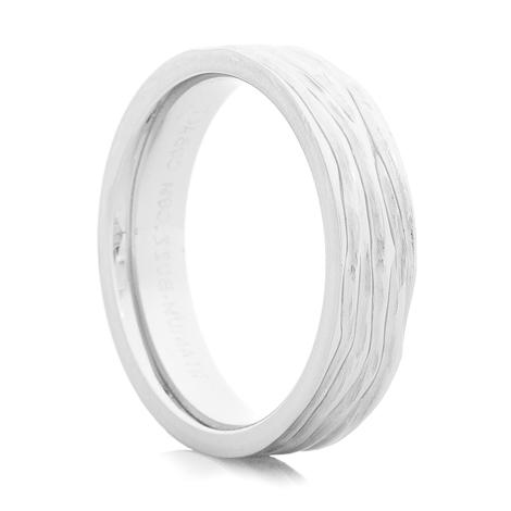 Men's Rustic Cobalt Tree Bark Ring