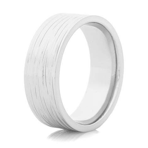Men's Cobalt Chrome Tree Bark Ring