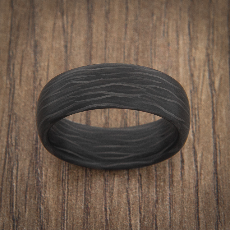 Men's Side Cut Carbon Fiber Ring