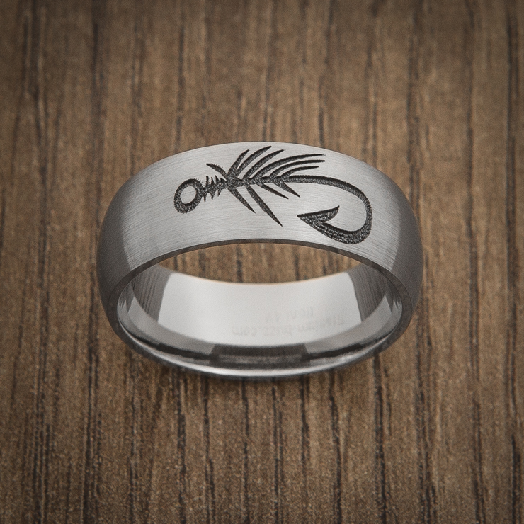 Men's Titanium Fly Hook Fishing Ring