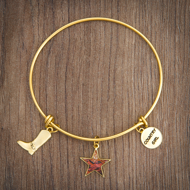 Women's Gold Wire Realtree Country Girl Charm Bracelet
