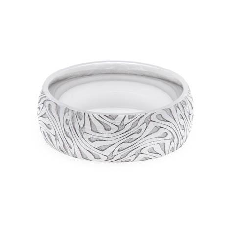 Men's Cobalt Escher Style Cobalt Ring
