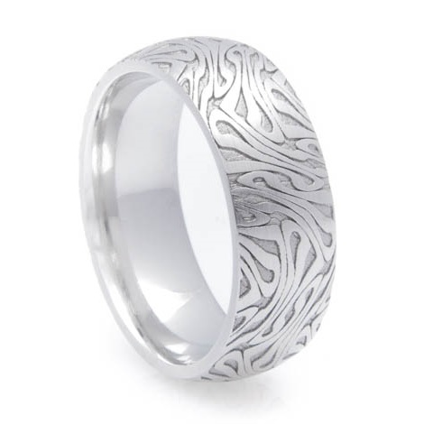 Men's Cobalt Escher Style Cobalt Ring