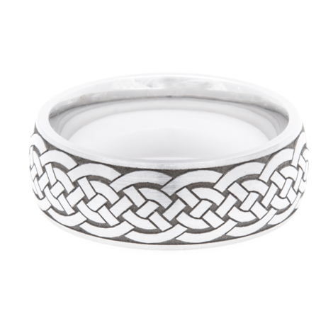 Traditional Cobalt Celtic Braid Ring