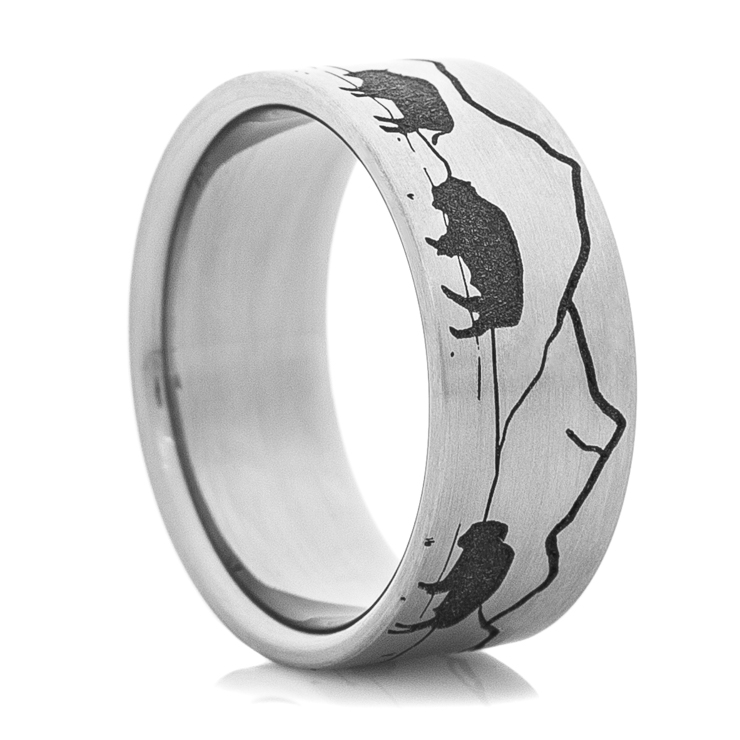 Men's Titanium Buffalo Scene Ring
