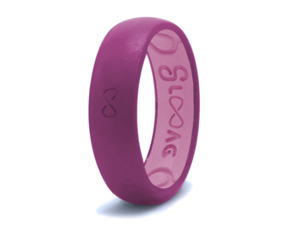 Groove Life Silicone Ring- Narrow Lilac Purple