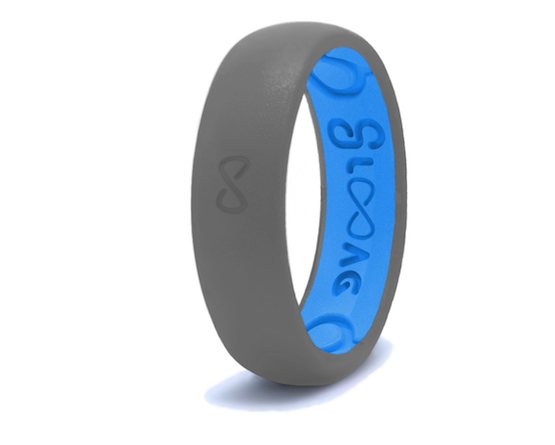 Groove Life Silicone Ring- Narrow Deep Stone Grey