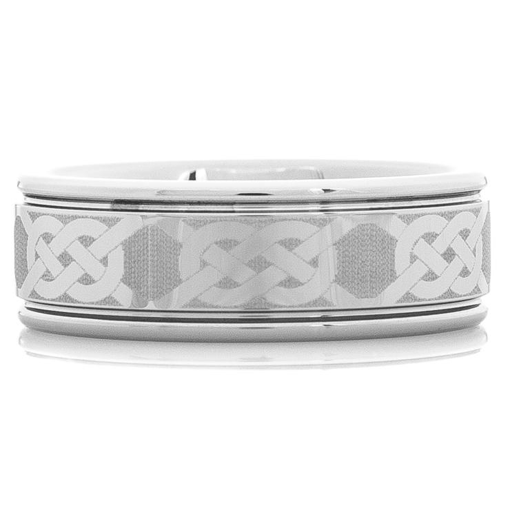 Men's Tungsten Celtic Knot Ring
