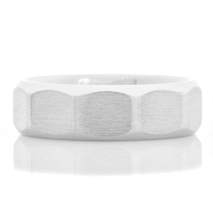 Men's Cobalt Chrome Facet Design Ring