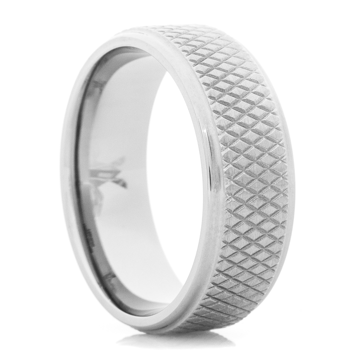 Men's Titanium Hockey Puck Ring