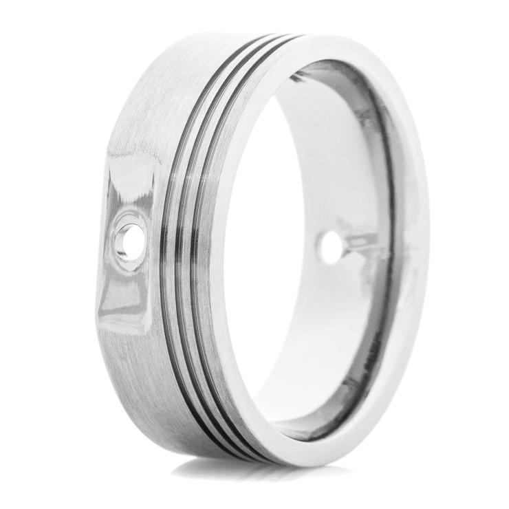 Men's Titanium Piston Head Ring