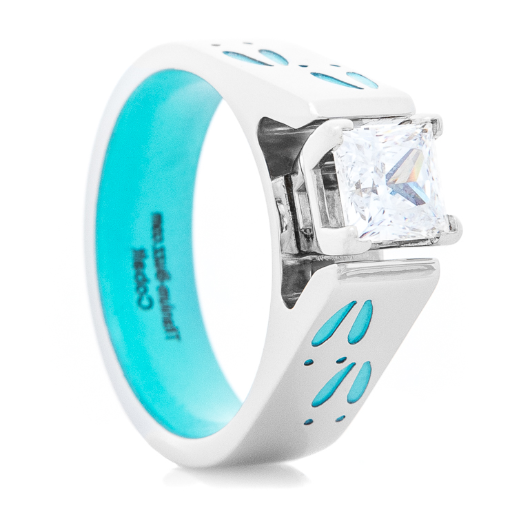 Women's Turquoise Deer Track Engagement Ring