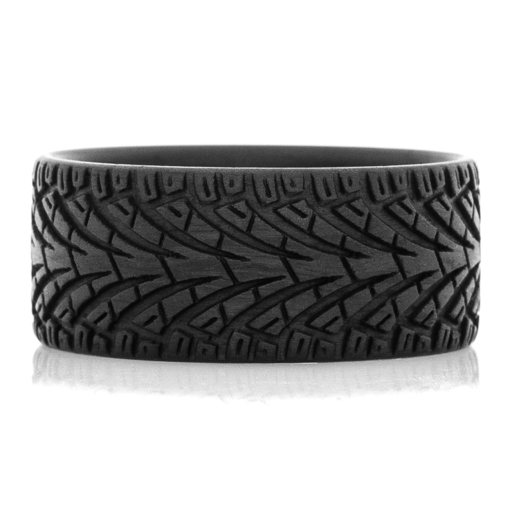 Men's Carbon Fiber City Style Tread Ring