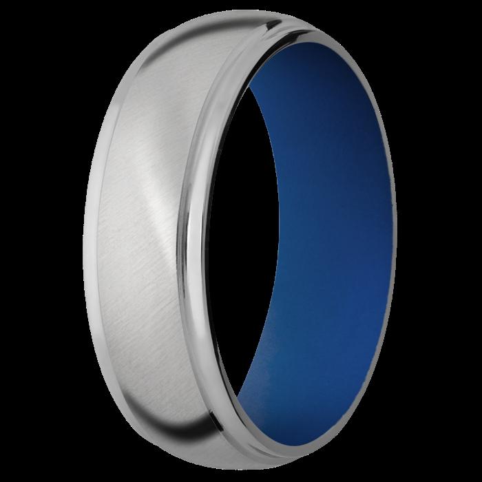 Customizable Titanium Wedding Ring with Step Down Edge