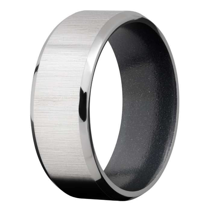 Men's Customizable Beveled Edge Titanium Ring
