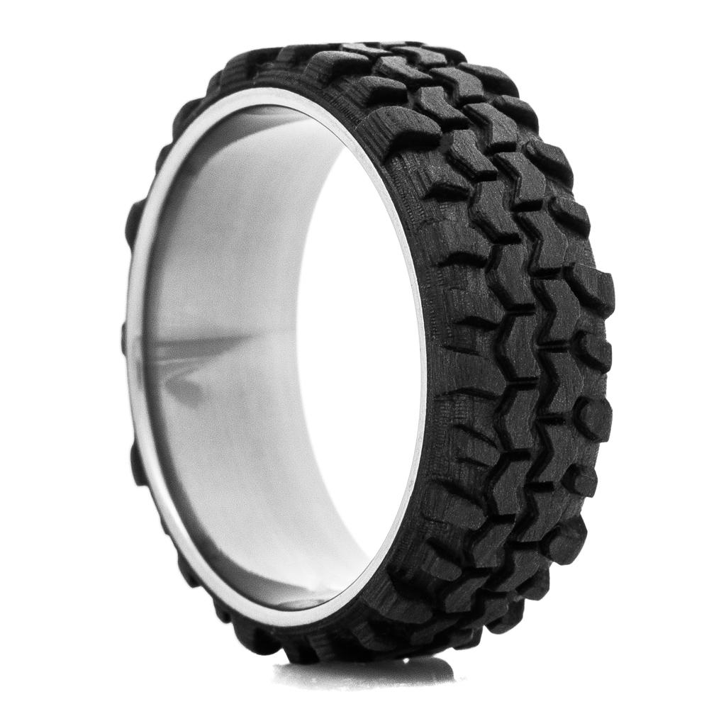 Men's Carbon Fiber Interco TSL Swamper Tread Ring w/ Titanium Sleeve