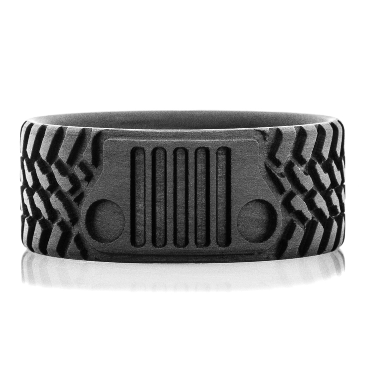 Ready To Ship- Off Road Inspired Tread & Grill Carbon Fiber Ring