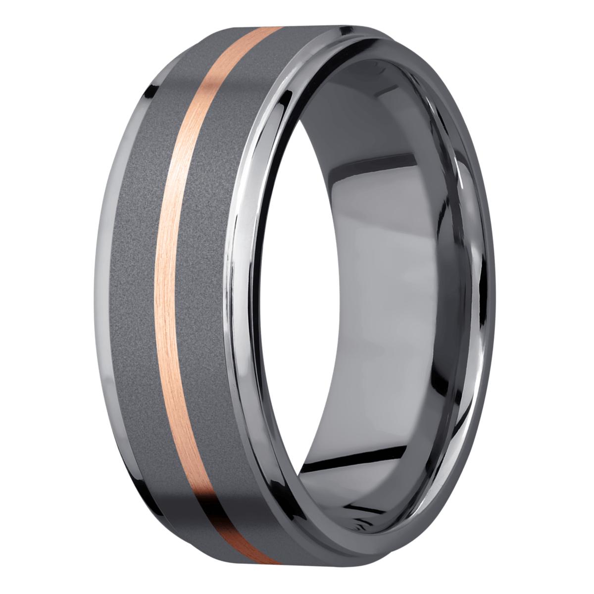 Men's Tantalum & Rose Gold Wedding Ring
