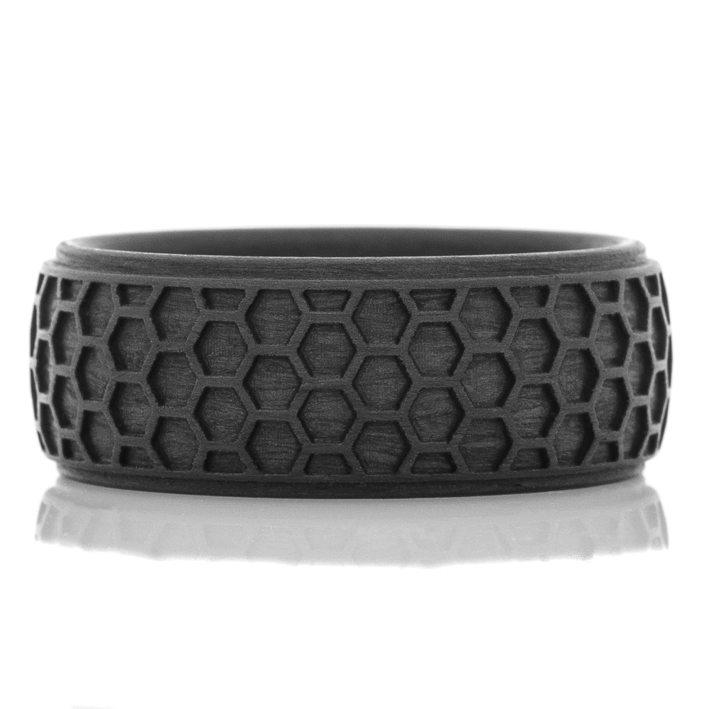 Carbon Fiber Honey Comb Pattern Ring