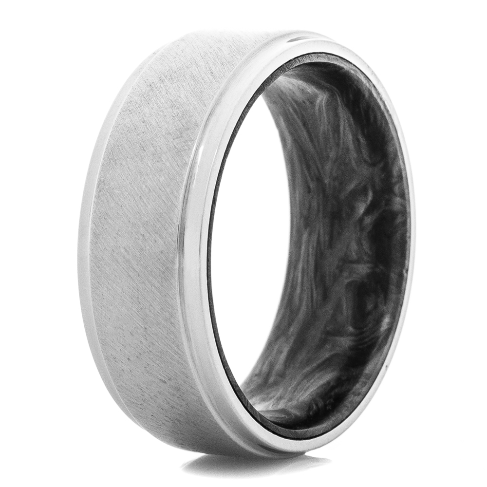 Titanium Ring X Forged Carbon Fiber Sleeve