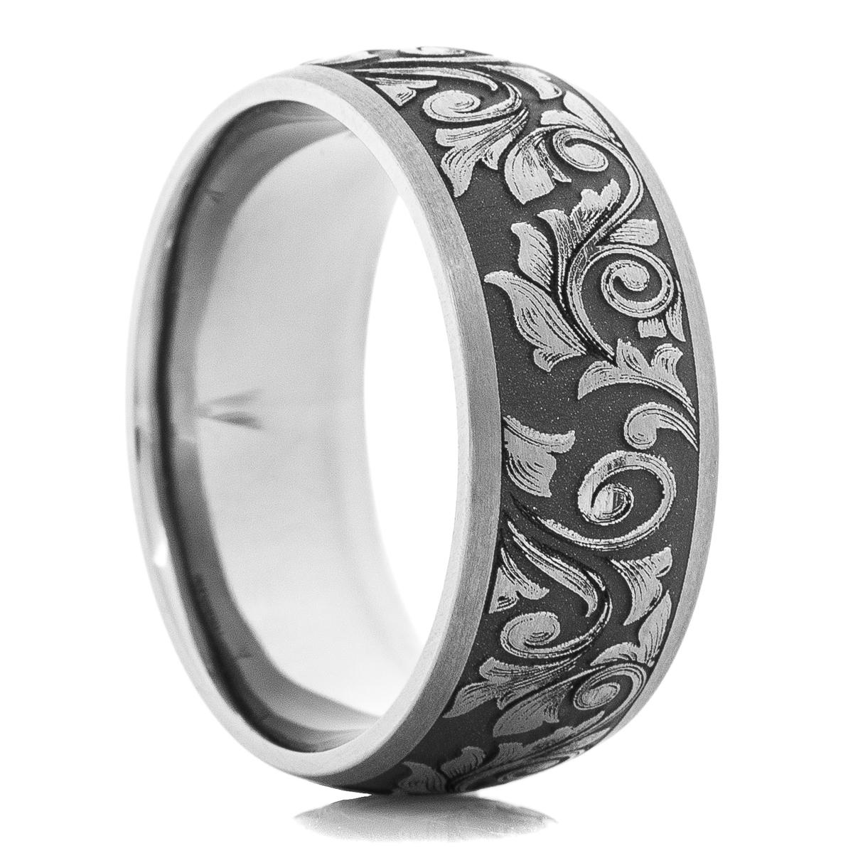 Men's Western Themed Tantalum Ring