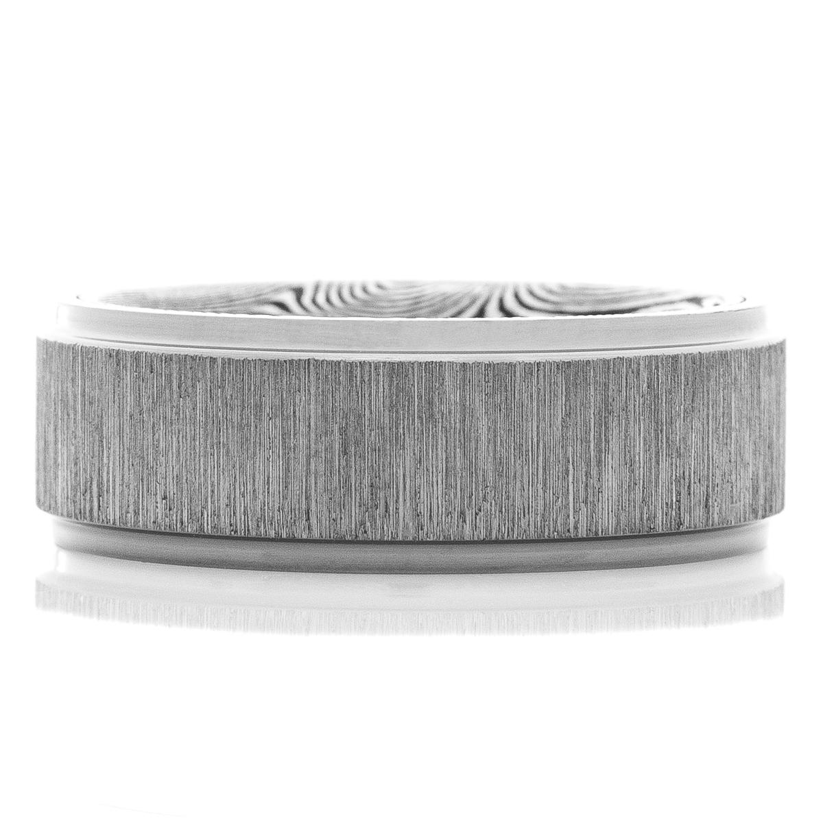 Men's Cross Satin Tantalum Ring with Designed Sleeve