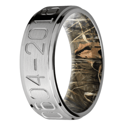 Men's Titanium Duck Band Ring with Camo Sleeve