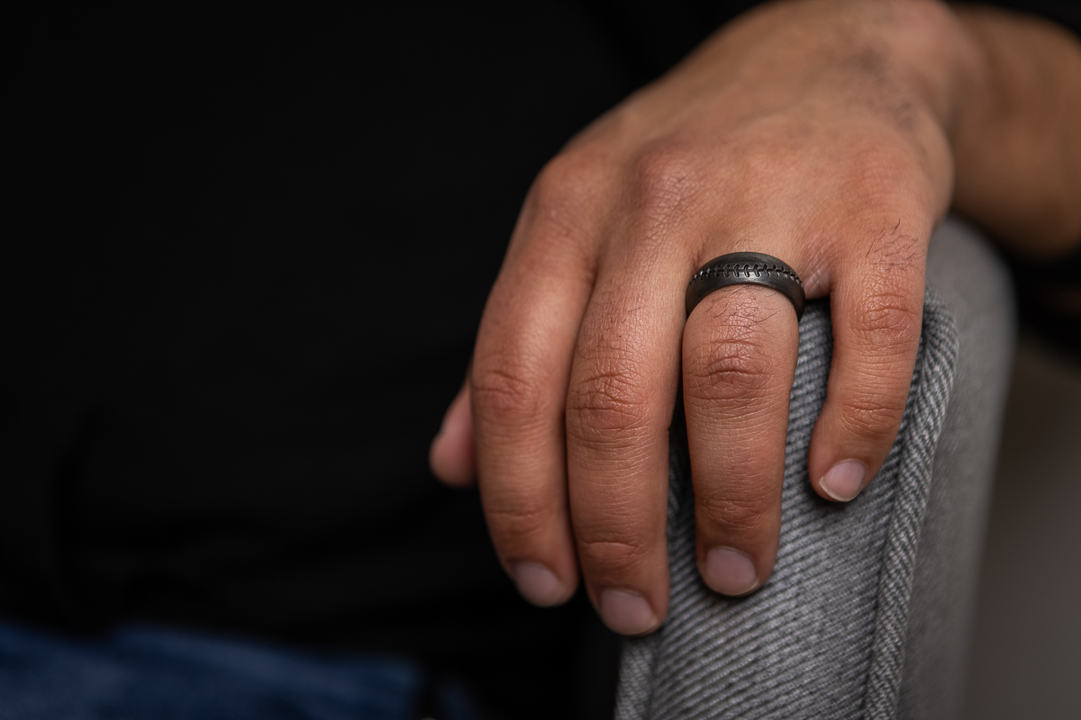 The Titanium Mickey Mantle Ring