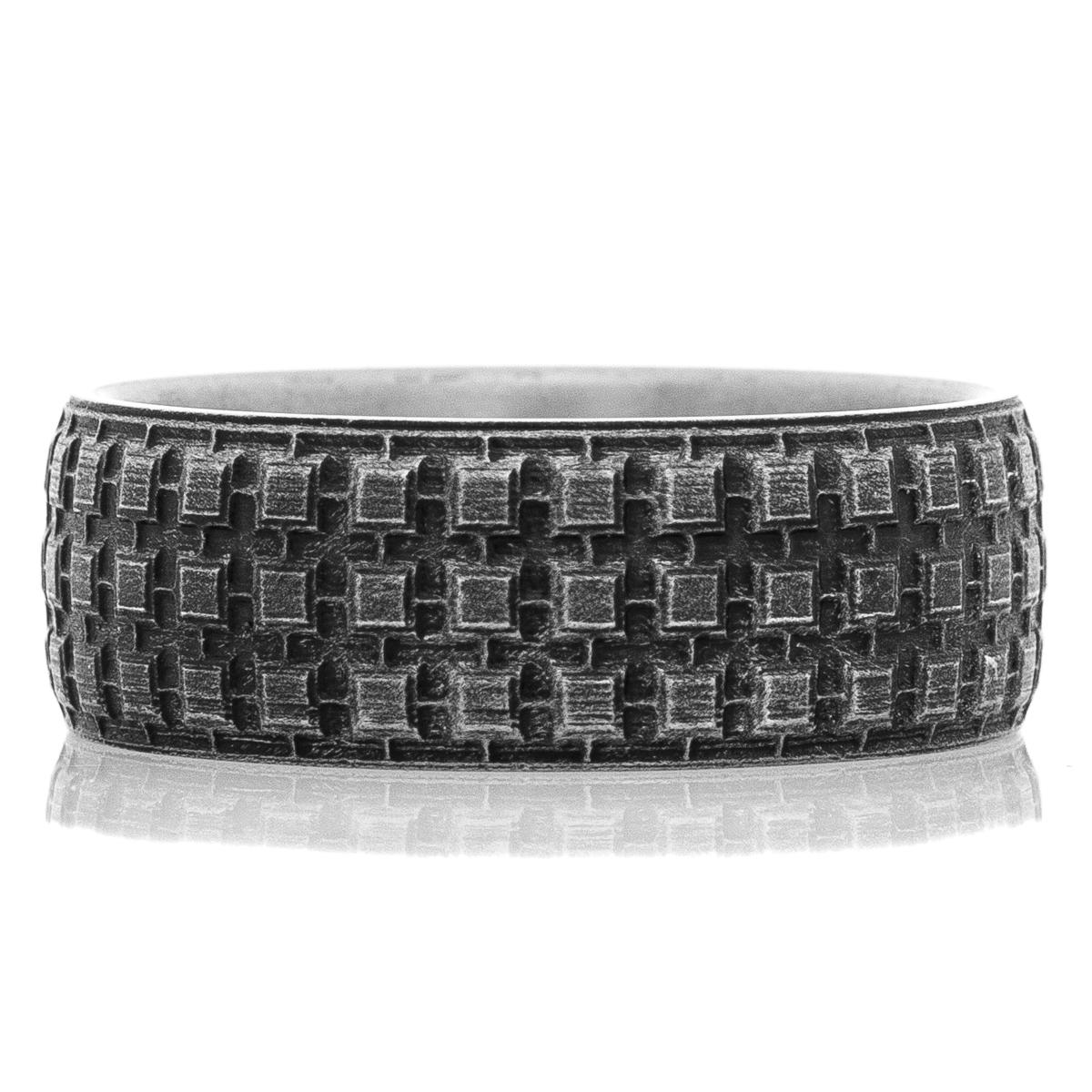 Titanium Battle Worn Tread Ring