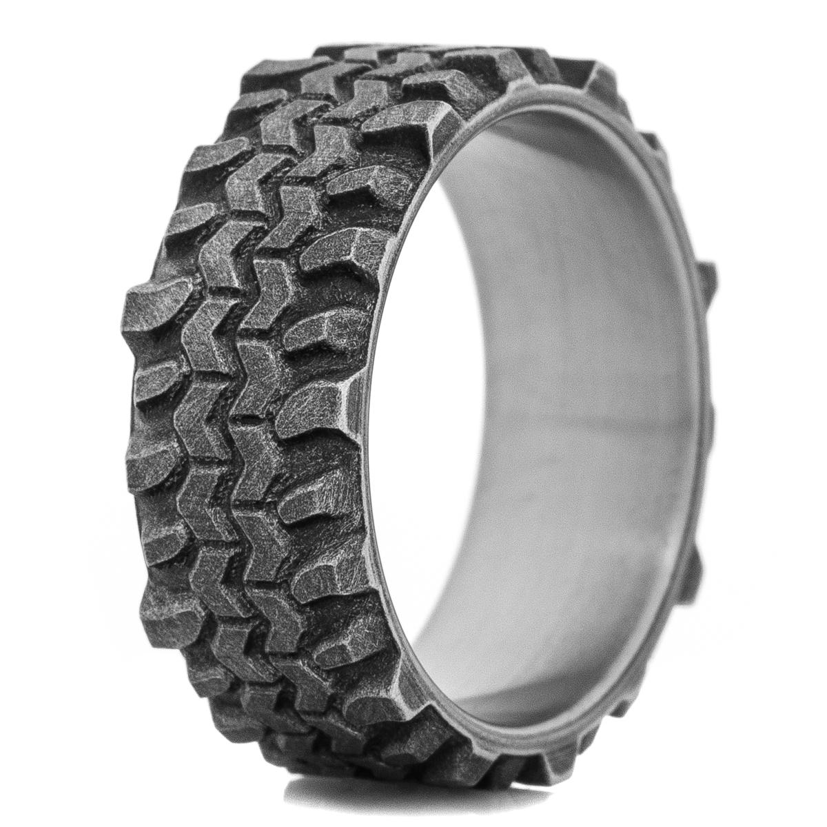 Men's Titanium Battle Worn Interco® Super Swamper ® TSL® Tread Ring