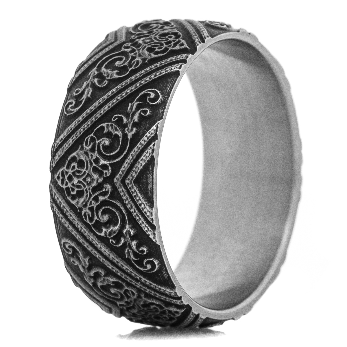 Men's Titanium King Arthur Battle Worn Ring