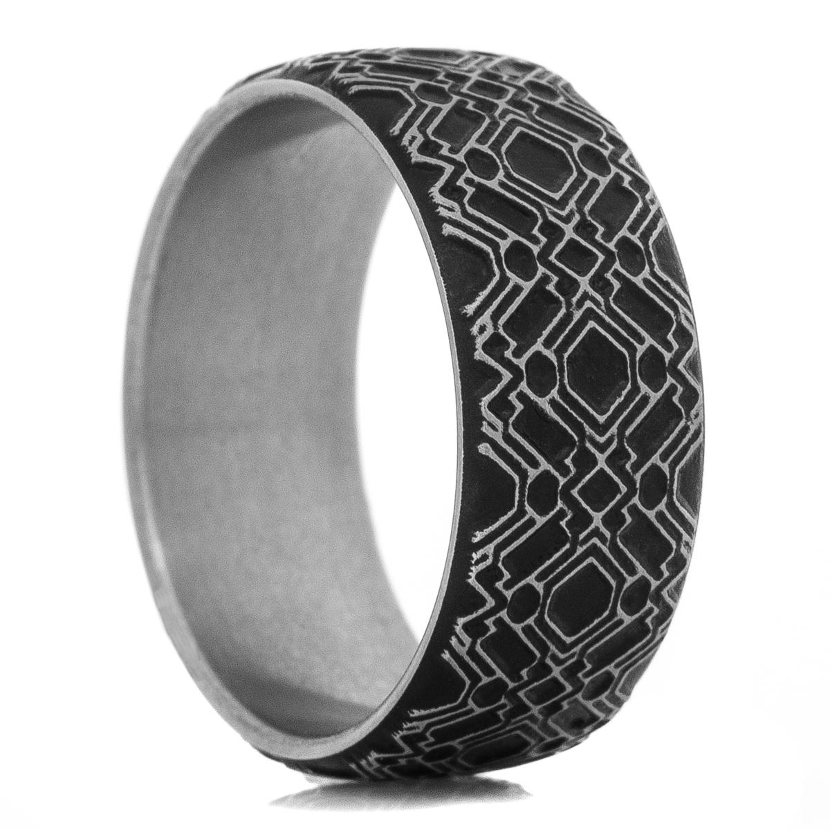 Men's Titanium Circuit Board Ring