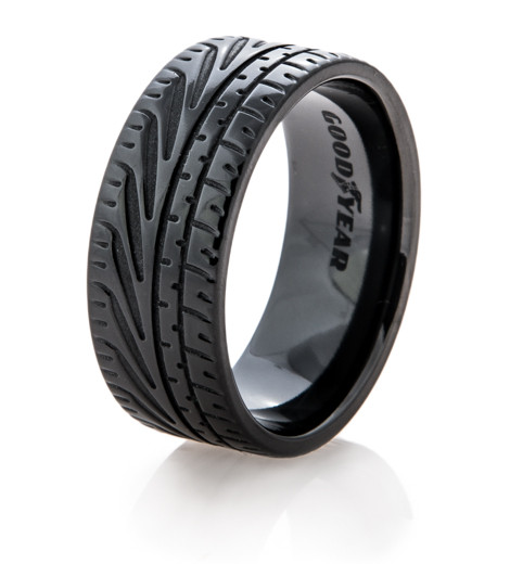 Goodyear Eagle F1 Supercar Tire Wedding Ring Titanium Buzz