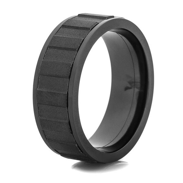 Matte Black Spinner Rings Black Spinner Wedding Ring