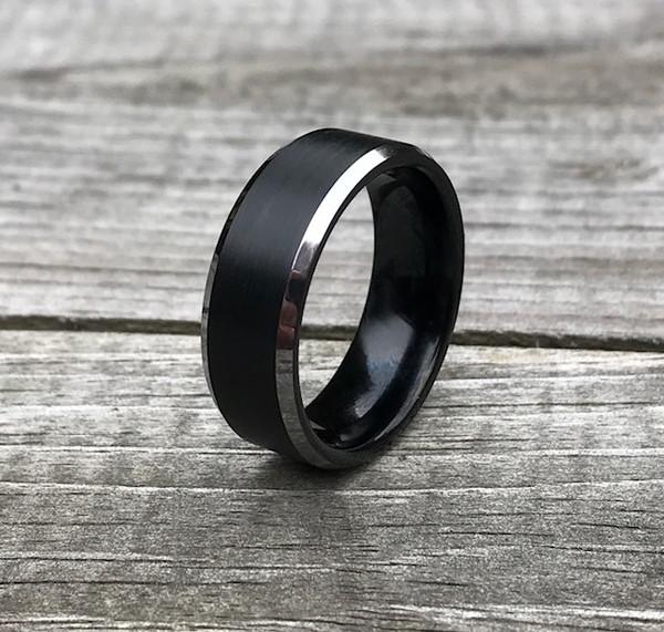 Details about  /Tungsten Carbide Men/'s Women/'s Textured Brushed Center Wedding