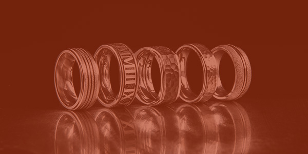 metal rings lined up