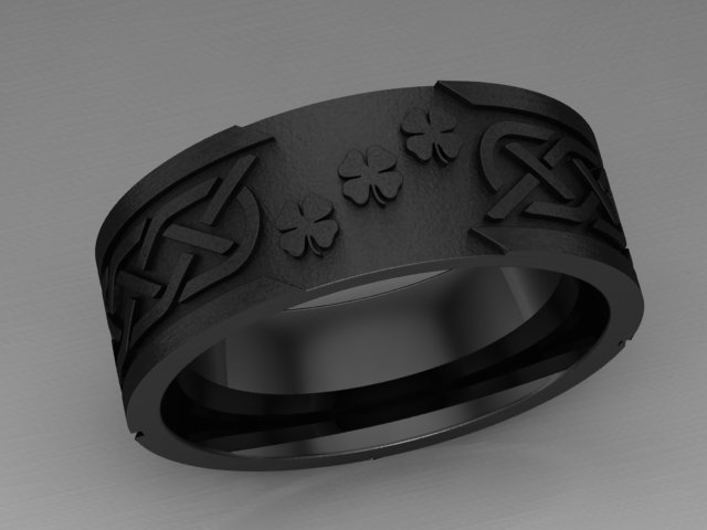 custom celtic clover ring