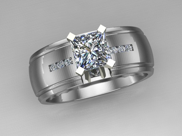 custom seven diamond ring