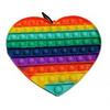 Pop It Fidget Toy Supersized RAINBOW HEART