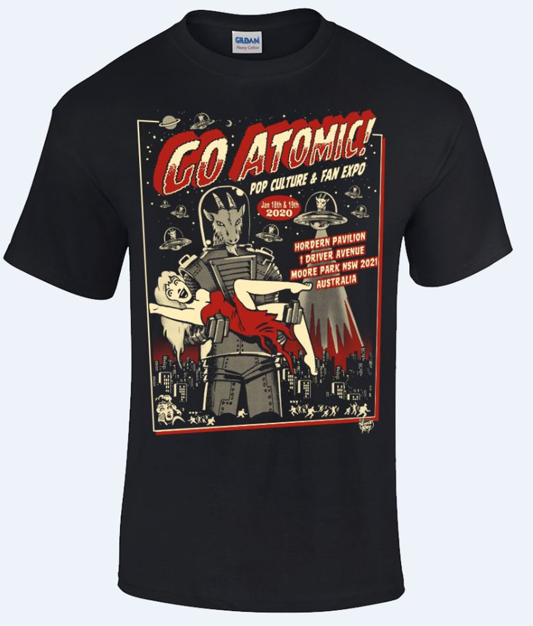 Go Atomic! T-shirt (S and M)