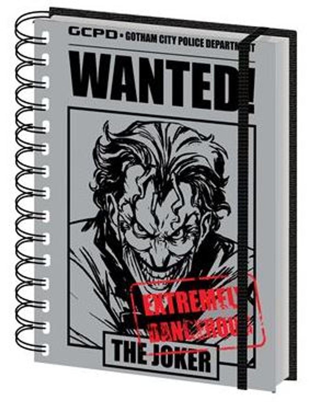 DC Comics - Joker Wanted - Spiral Notebook (A5)