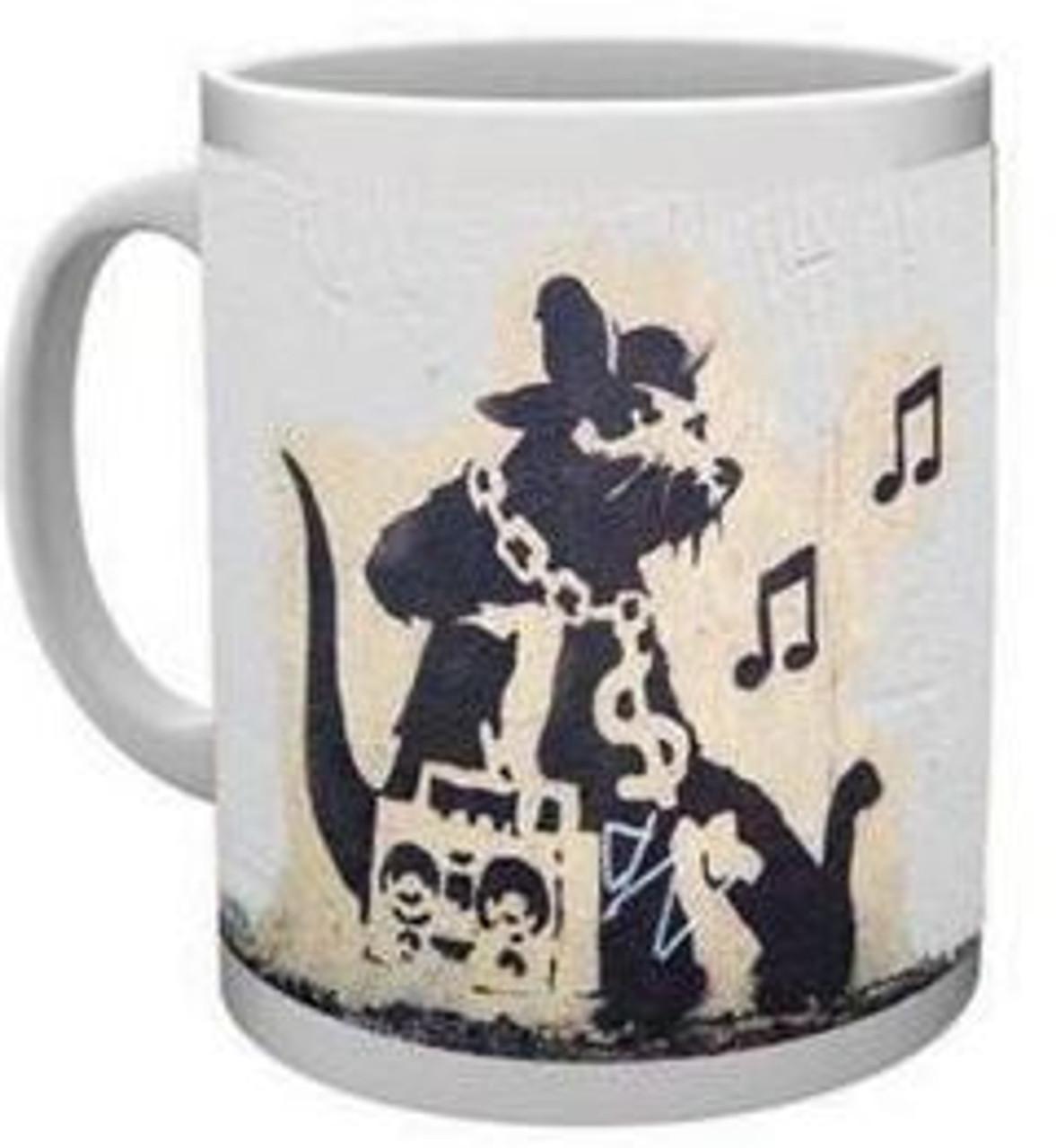 Banksy - Grafitti Rat - Mug