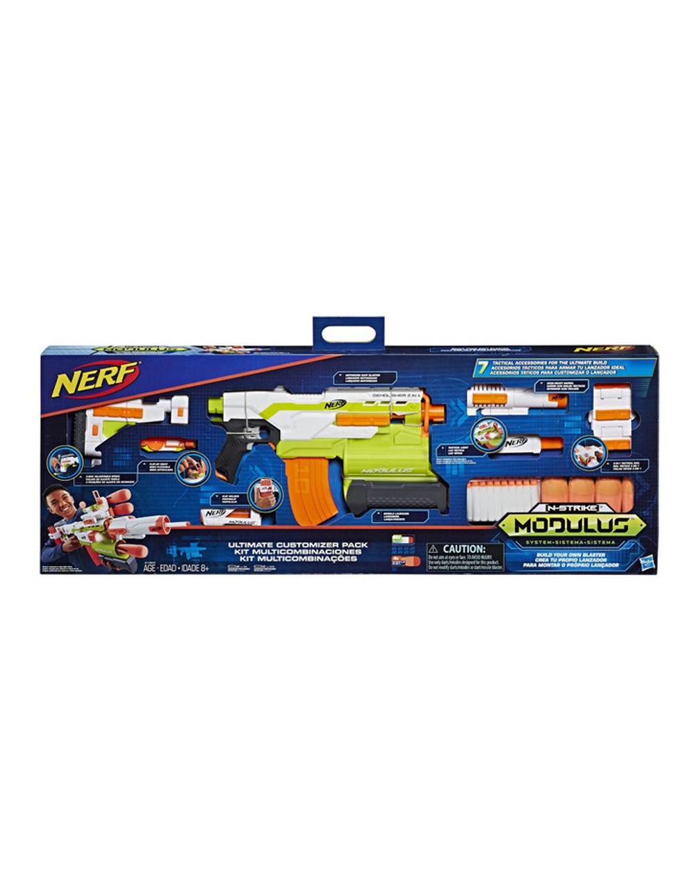 NERF - Modulus Demolisher Customizable Motorised Blaster - Ultimate Mega Pack