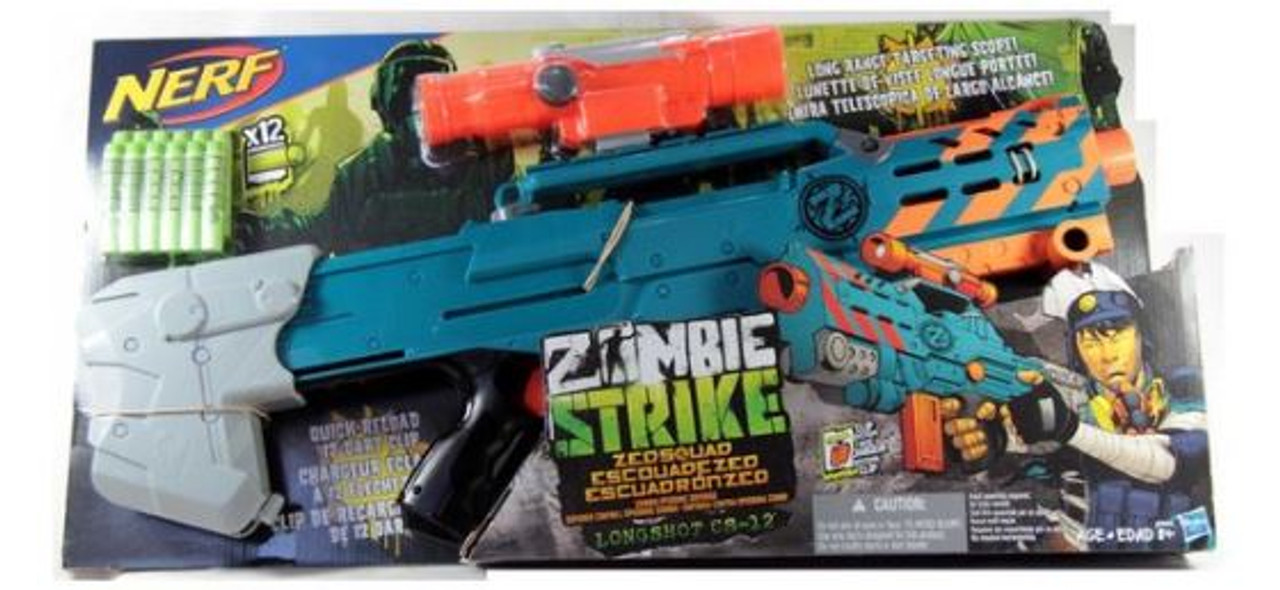 NERF Zombie Strike Longshot CS-12 Blaster