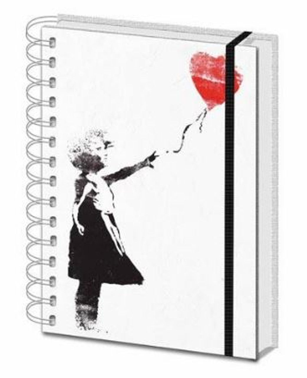 Banksy - Balloon Girl - Spiral Notebook (A5)