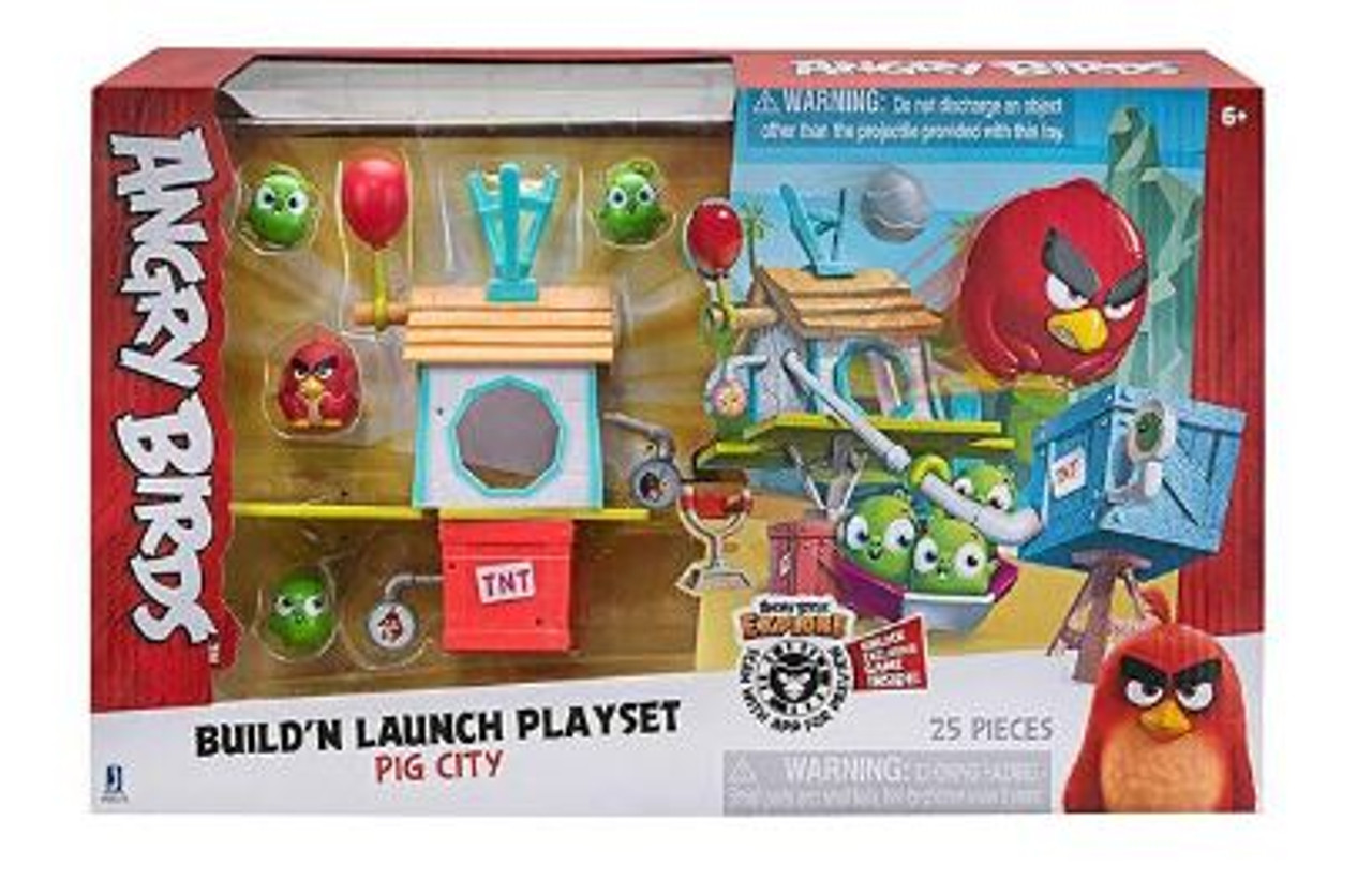 Angry Birds Build 'N Launch Playset: Pig City
