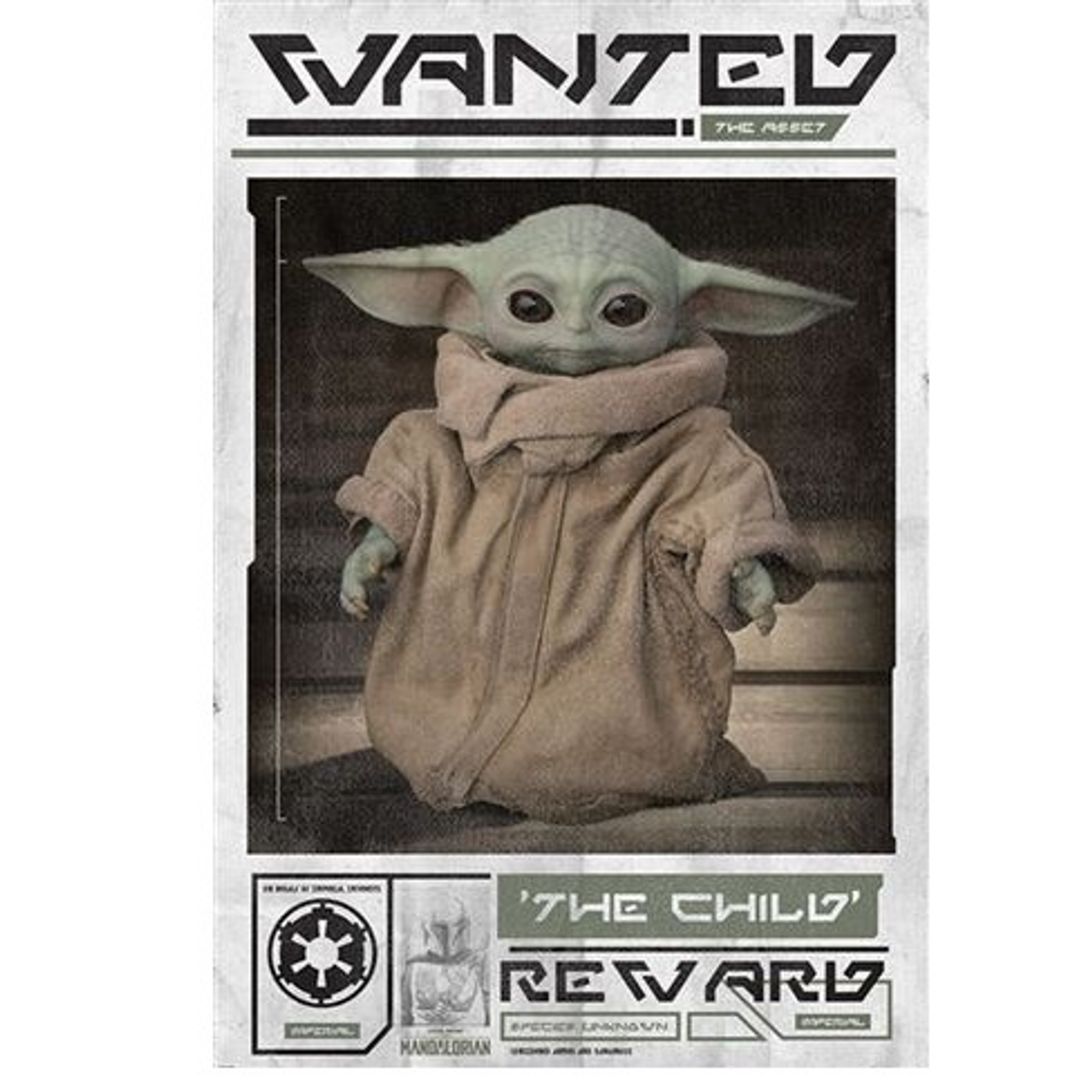 Poster - Star Wars : The Mandalorian - Wanted The Child