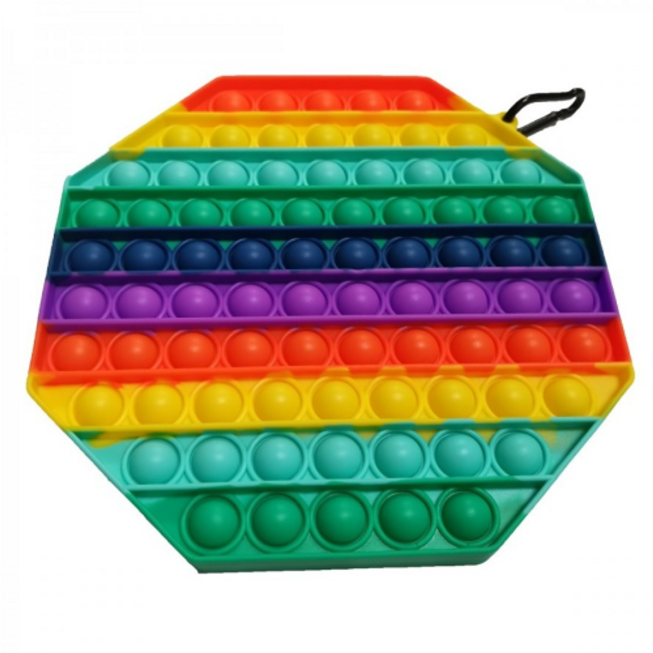 Pop It Fidget Toy Supersized RAINBOW OCTAGON