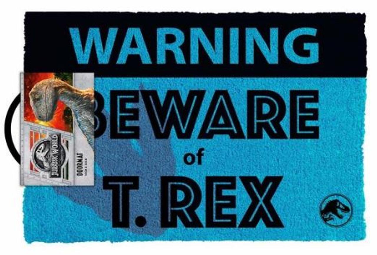 Jurassic World - Beware T.Rex - Doormat